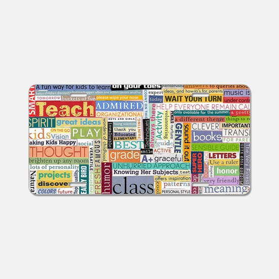 Teacher Mug Aluminum License Plate