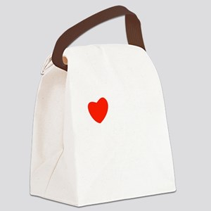 french_white-all Canvas Lunch Bag