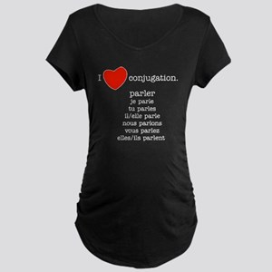 french_white-all Maternity Dark T-Shirt