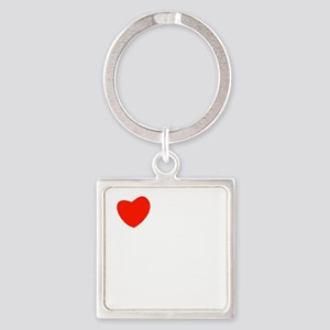 french_white-all Square Keychain