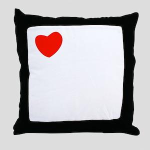 french_white-all Throw Pillow