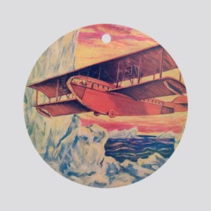Tom Swift and his Flying Boat Round Ornament