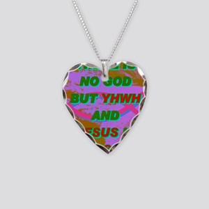 16-THERE IS NO GOD BUT YHWH A Necklace Heart Charm