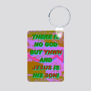 16-THERE IS NO GOD BUT YHW Aluminum Photo Keychain