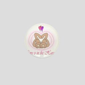 Hare Love Notecard Inside Mini Button