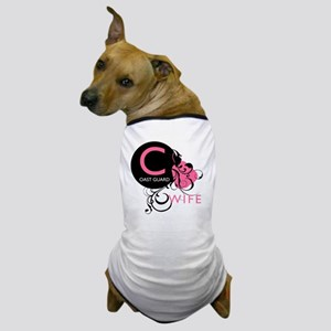 InitialLadyLikeCoastGuardWife Dog T-Shirt