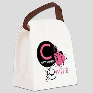 InitialLadyLikeCoastGuardWife Canvas Lunch Bag