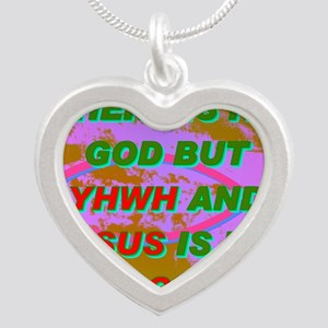 20-THERE IS NO GOD BUT YHWH  Silver Heart Necklace
