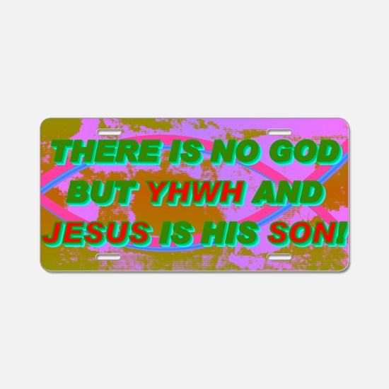 24-THERE IS NO GOD BUT YHWH Aluminum License Plate