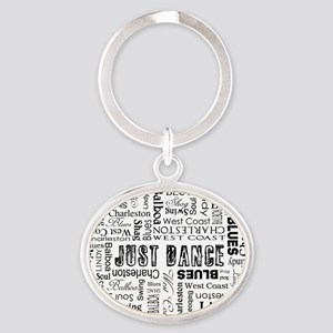 just-dance_bl Oval Keychain
