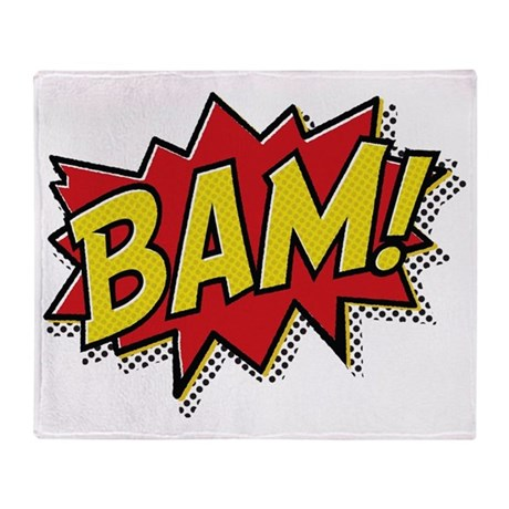 Bam hat Throw Blanket