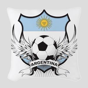 2-argentina Woven Throw Pillow