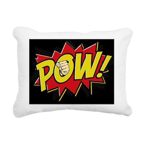 2-Pow 2 Pillow Rectangular Canvas Pillow