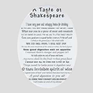 Shakespeare Apron Oval Ornament