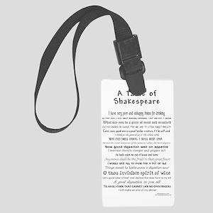 Shakespeare Apron Large Luggage Tag