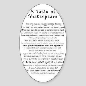 Shakespeare Apron Sticker (Oval)