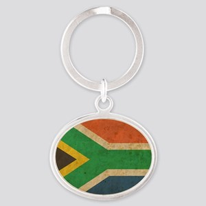 VintageSouthAfrica2 Oval Keychain