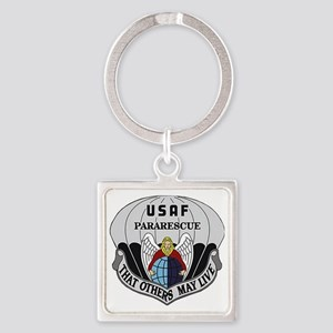 Pararescue Logo Square Keychain