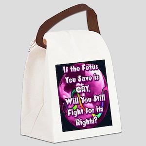 GayFetus Canvas Lunch Bag