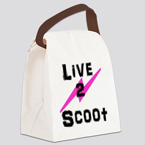Live2Scoot3 Canvas Lunch Bag