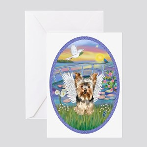 Lilies - Yorkshire Terrier 17 Greeting Card