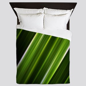 lime green lines abstract geometric pa Queen Duvet