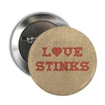 Love Stinks Button