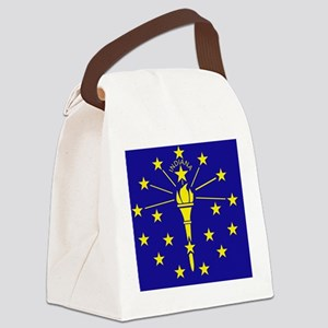 Indiana State Flag 1 Canvas Lunch Bag