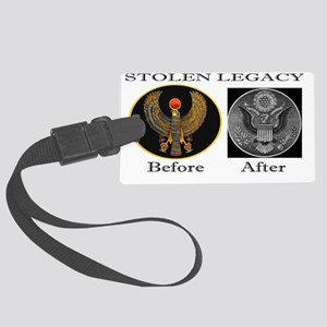 The Corruption of Heru Large Luggage Tag