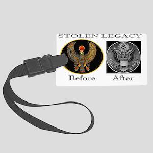 The Corruption of Heru Large Luggage Tag