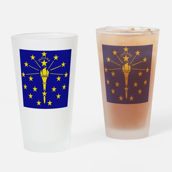 Indiana State Flag 1 Drinking Glass