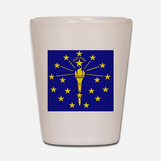 Indiana State Flag 1 Shot Glass