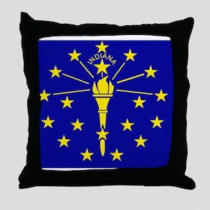 Indiana State Flag 1 Throw Pillow