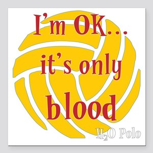 "blood_bb Square Car Magnet 3"" x 3"""