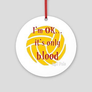 blood_bb Round Ornament