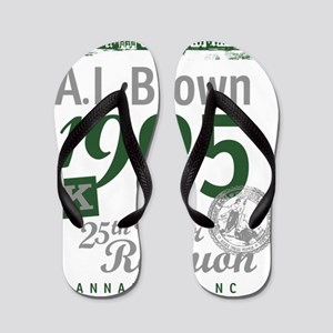 3A.L. Brown 25th reunion shirt-design-4 Flip Flops