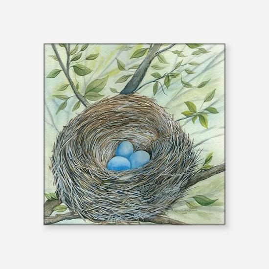 "Robins Nest Square Sticker 3"" x 3"""