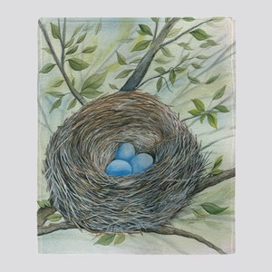 Robins Nest Throw Blanket