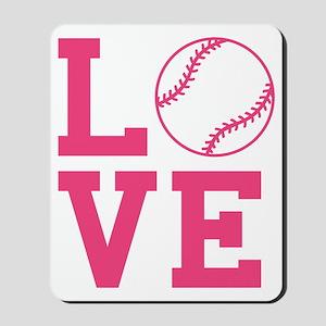love-softball Mousepad