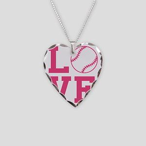 love-softball Necklace Heart Charm