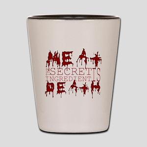 Meat Death on black Shot Glass