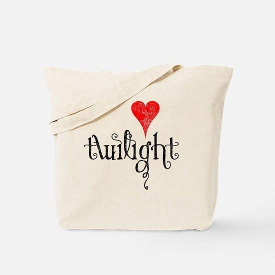 Twilight Heart Tote Bag