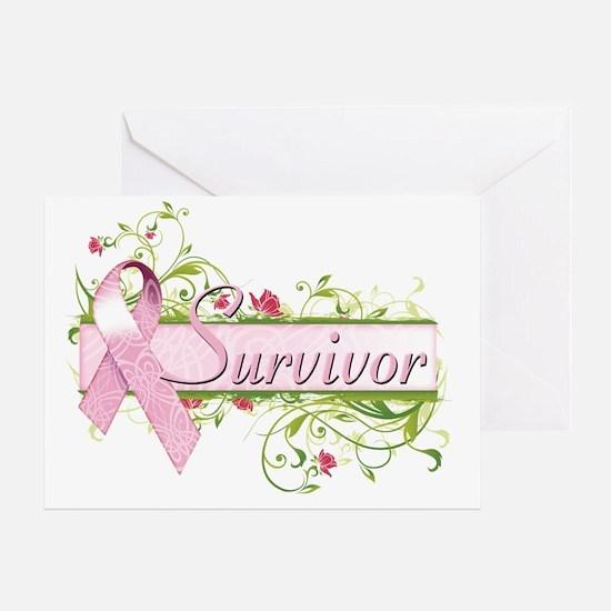 Survivor Floral Pink Greeting Card