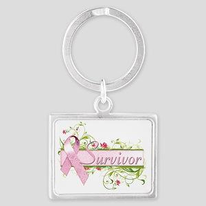 Survivor Floral Pink Landscape Keychain