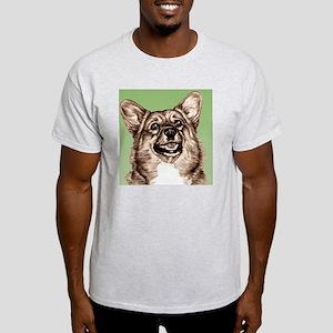Corgi Green Square Light T-Shirt
