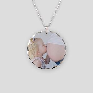 A Womans Design logo 3 Necklace Circle Charm