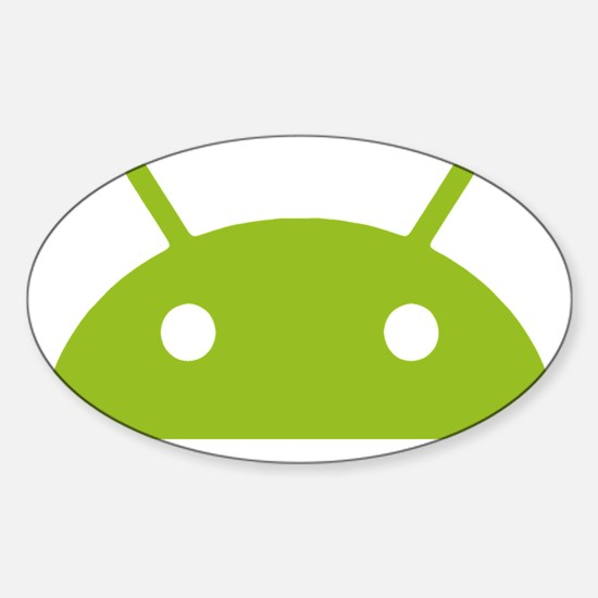Google Android Head Sticker (Oval)