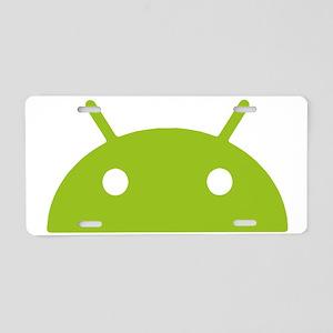 Google Android Head Aluminum License Plate