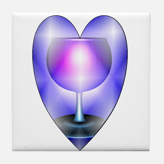 Ace of cups hearts Tile Coaster