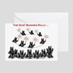 Dust Bunnies Rally Greeting Card